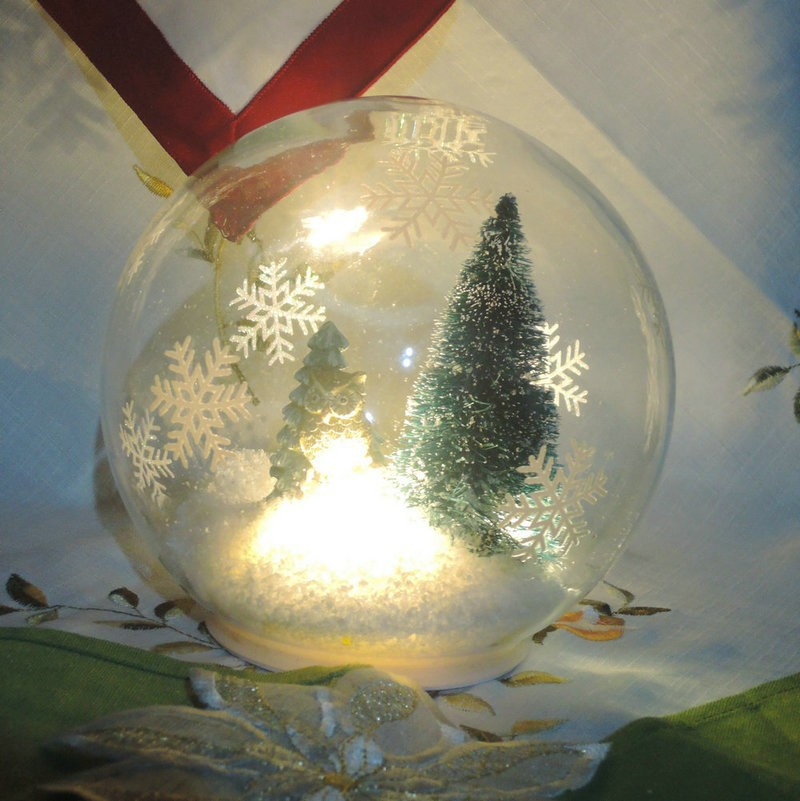 Wholesale Christmas Baubles,Clear Hand Blown Glass Snow Globe For ...