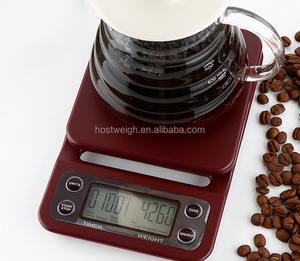 mini waterproof coffee scale digital electronic weighing kitchen food scale with timer function