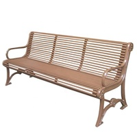 Wrought iron patio benches outdoor metal furniture manufacturer China