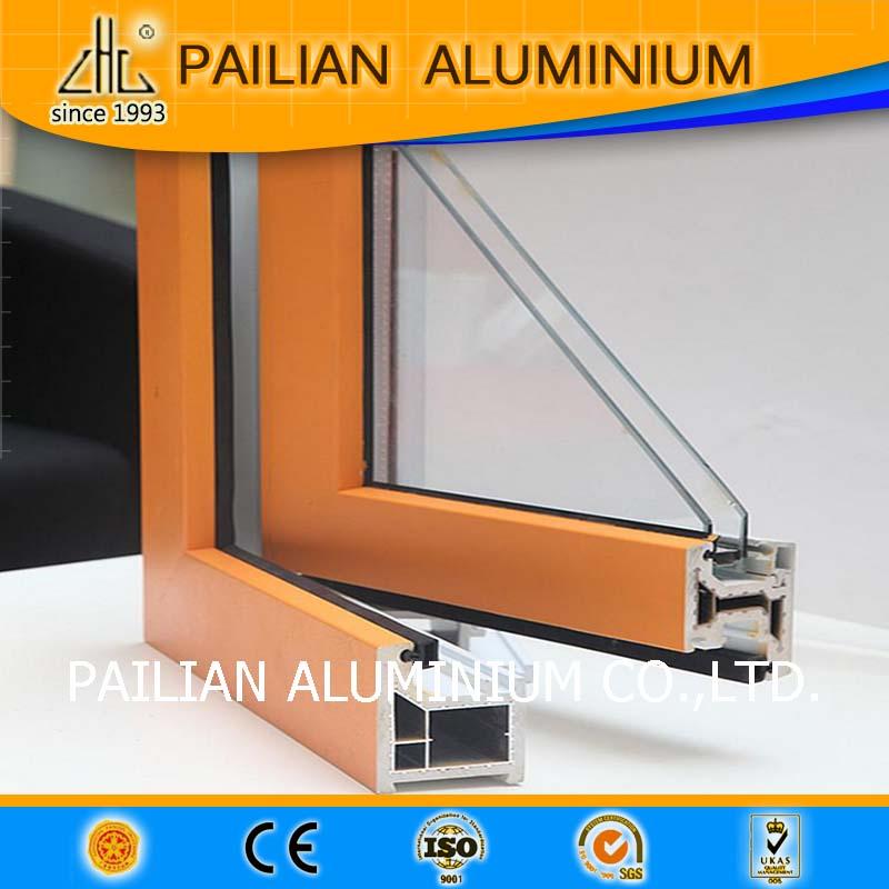 Anodizado champagn puertas de aluminio y sección de la ventana ...