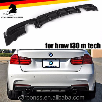 Carbon P Style Rear Diffuser Fit For 12 Bmw 3 Series F30 335i M