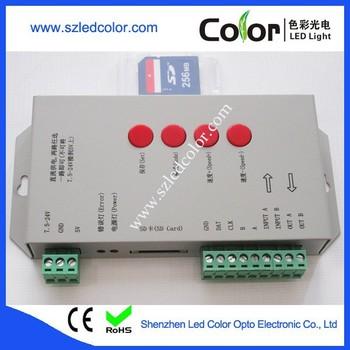 Free Led Edit Software T1000s/t1000c Program Pixel Led Controller - Buy Led  Pixel Light Controller,T1000 Programmable Led Controller,Pixel Led