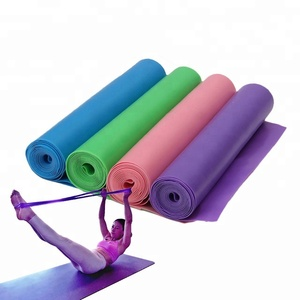 Manufacturer Customize Natural Latex Exercise Resistance Band/Roll Yoga/1.2m Elastic Yoga Pilates Rubber Stretch Exercise Band