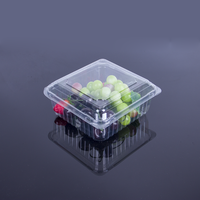 disposable transparent pet plastic fruit and vegetable box packaging