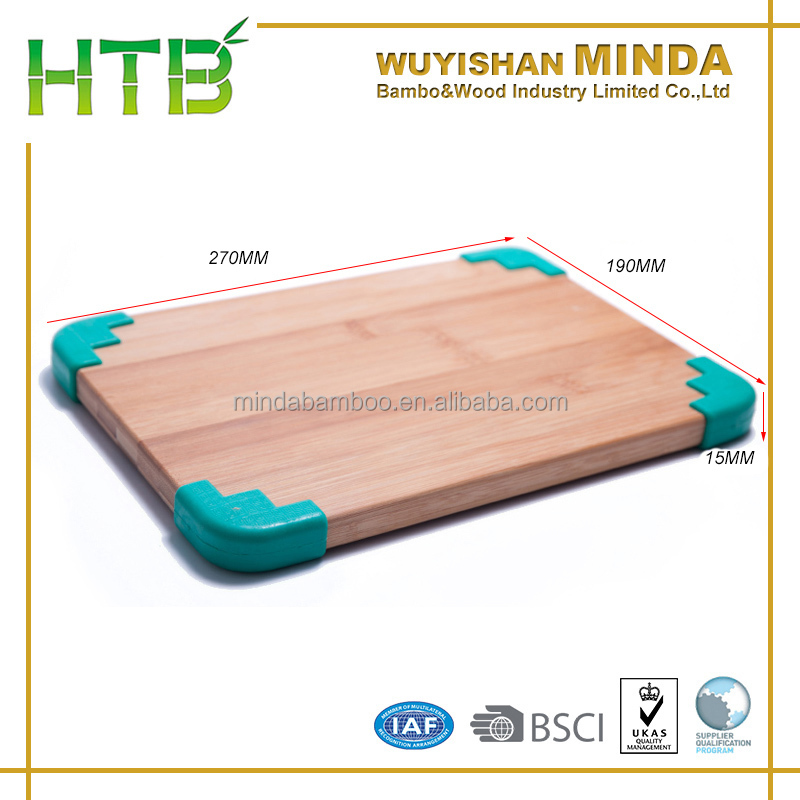 270*190mm Bamboo Chopping Board Cutting Dicing Kitchen Ware Preparation Eco Non Slip Wood