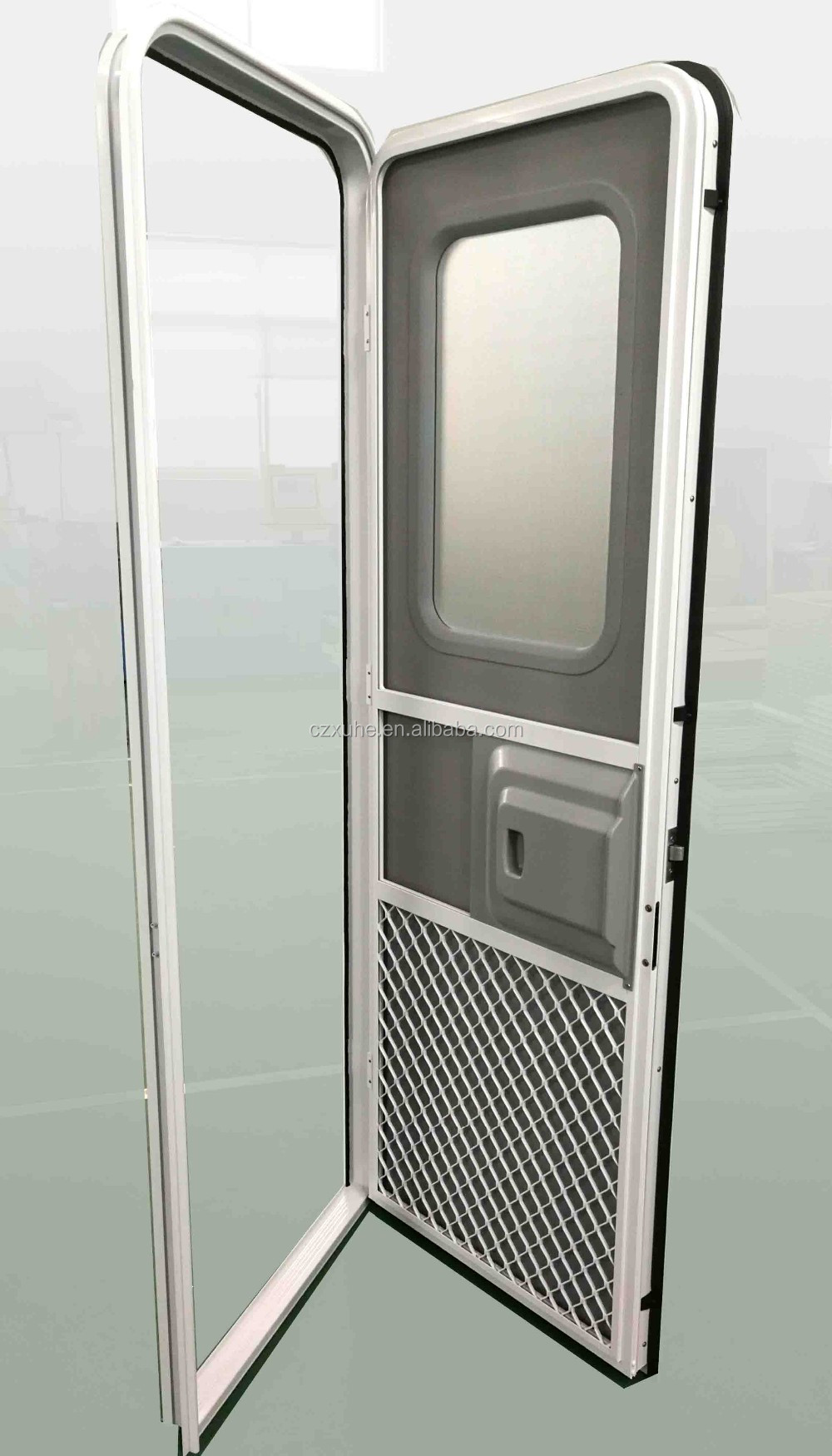 Rv Entry Door With Double Layer Acrylic Doors And Windows