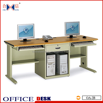 two person computer desk steel office table with cpu holder long tables f29 tables