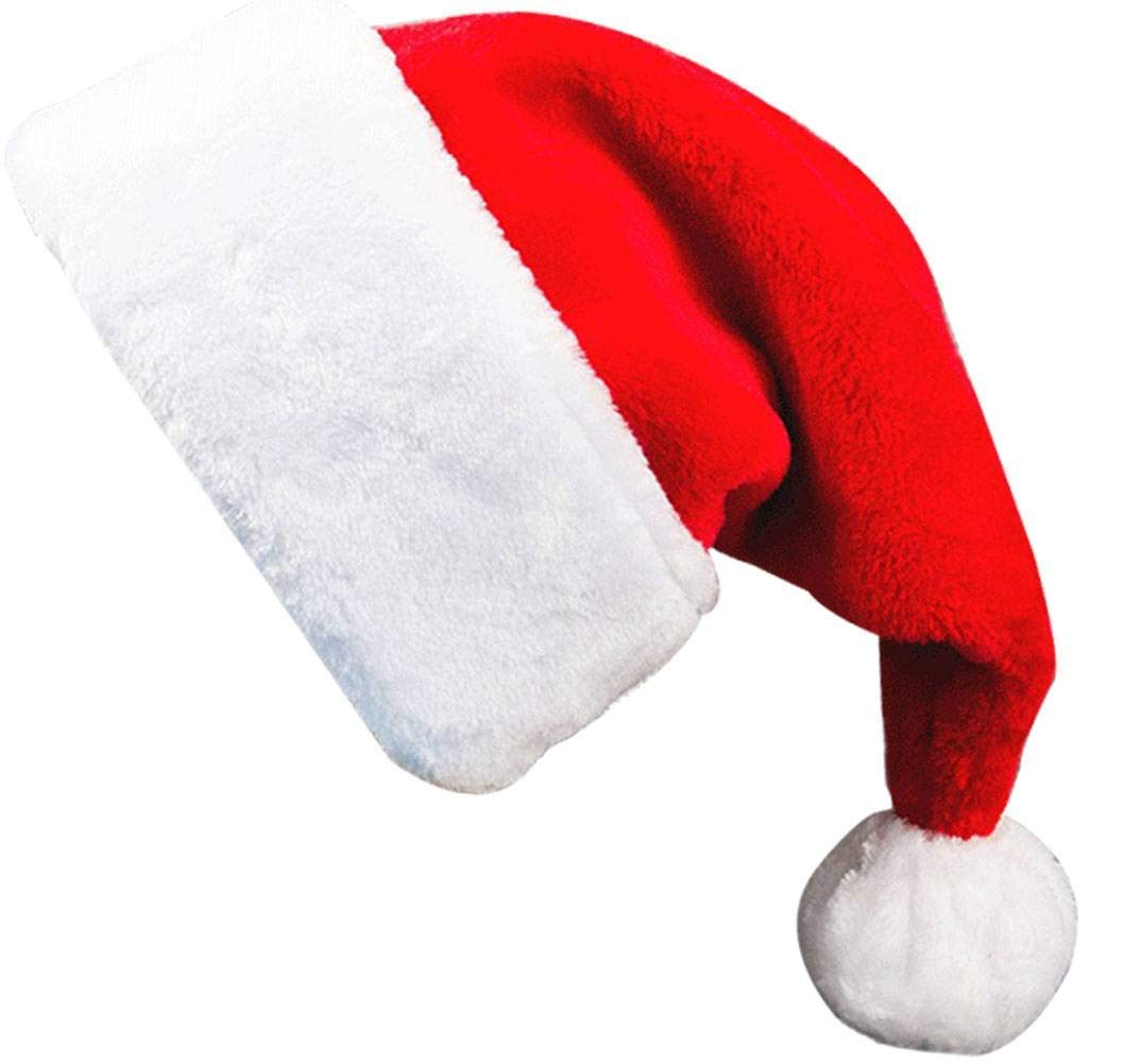 5172da263b010b Get Quotations · Adults' Santa Hat Red, Deluxe Plush Velvet Christmas Hat  with Luxury Trim for Women