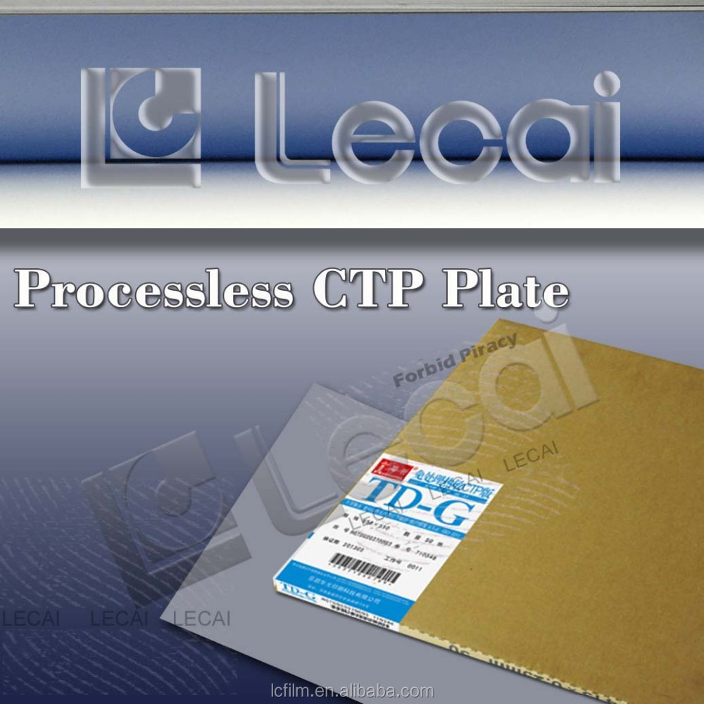 Neue processless thermo-ctp-platte