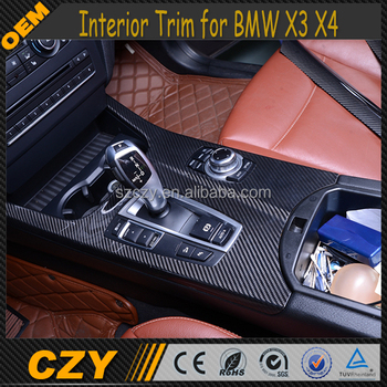 Auto-onderdelen 6 Stks Koolstofvezel X3 Interieur Trim Voor Bmw X3 ...