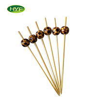New Design Cute Ball Hot Natural BBQ Small Bamboo Fruit Sticks