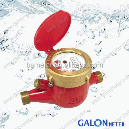 Domestic Multi Jet Dry Dial Plastic nylon Water digital flow meter
