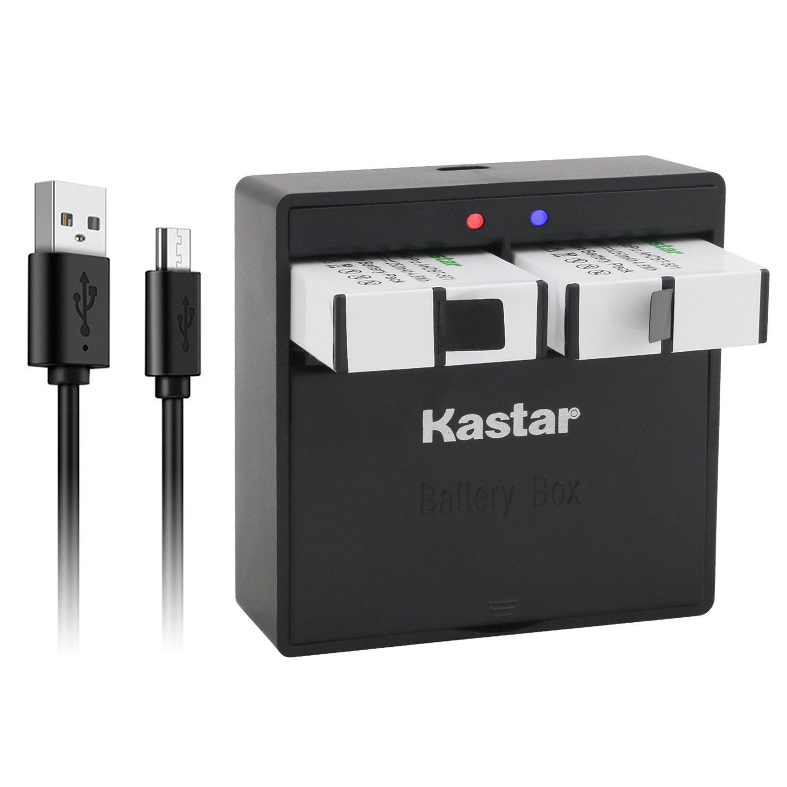 Kastar Battery (2-Pack) & Dual USB Charger for GoPro HERO6, Hero 6 Black, Gopro6, AABAT-00, 601-10197-000 and GoPro AHDBT-601, AHBBP-601 Sport Camera