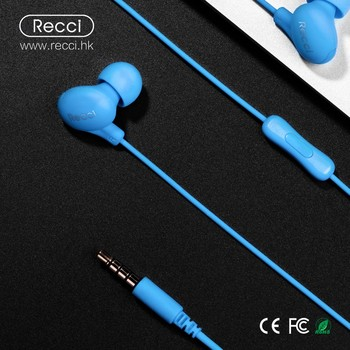 Recci factory hot selling wired headphone earphone earbuds