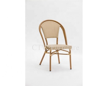 Magnificent Stackable Bamboo Looking Restaurant Paris Rattan Bistro Chair Buy Elegant Aluminum Bamboo Look French Cafe Rattan Bistro Chair Stackable French Ibusinesslaw Wood Chair Design Ideas Ibusinesslaworg