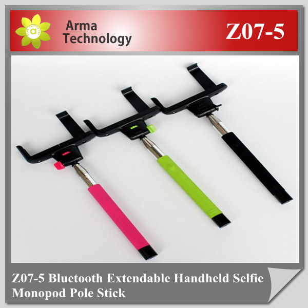 2015 Factory Z07-5 2 in 1 Wireless Bluetooth Mobile Phone Monopod Selfie Stick Tripod