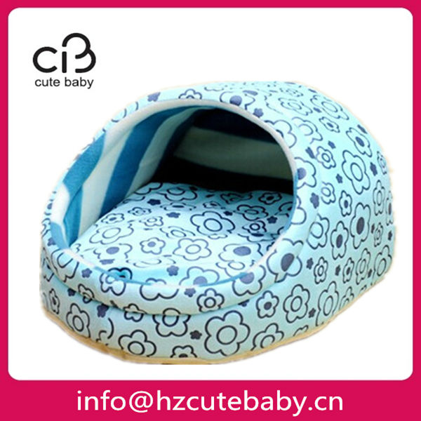 flowers printing fabric pet bed shoe