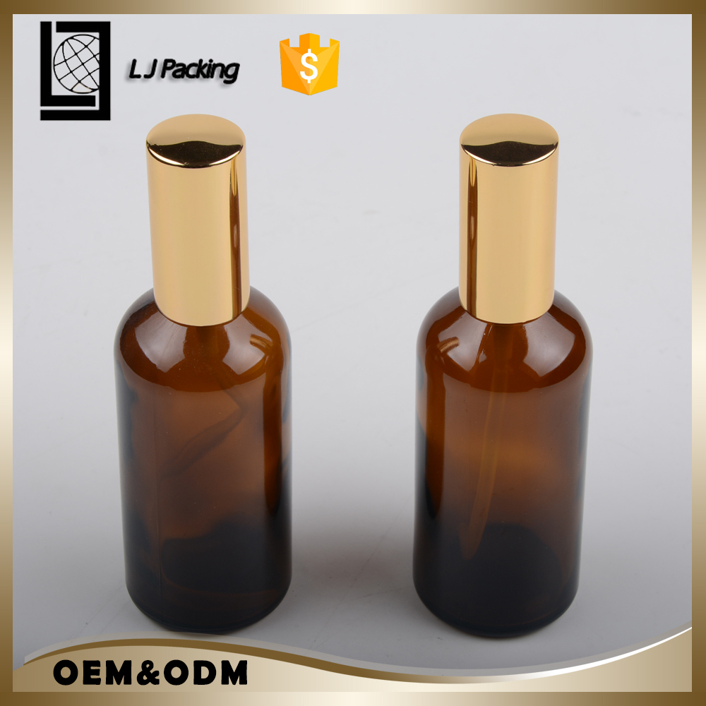 50 ml amber round essential oil glass spray bottles for personal care