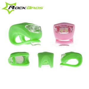 ROCKBROS MTB Road Bike Tire Rear Lamp Handlebar Light LED Silicone Rubber 6 Colors Bicycle Wheel Spokes Light