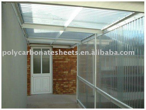 Policarbonato toldo toldo techos cubierta parasol otros for Cubiertas transparentes para techos