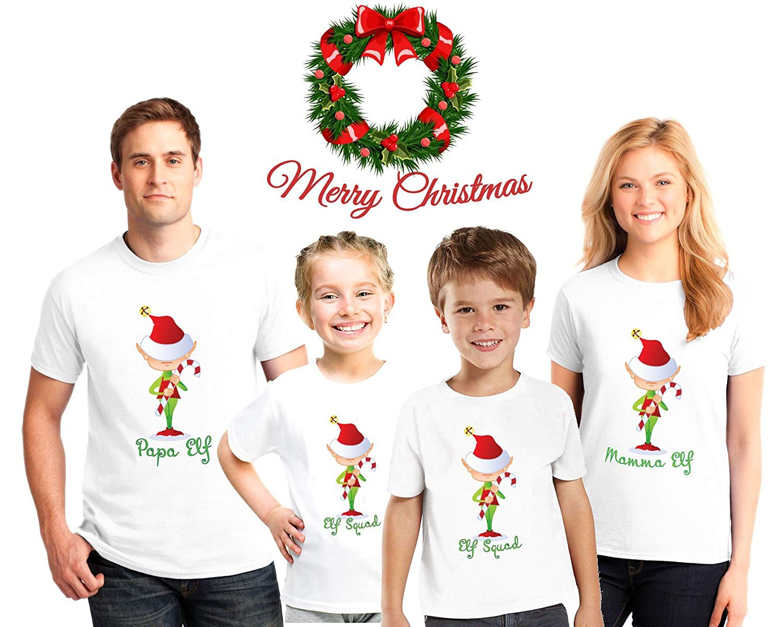 1bf9abde3 Get Quotations · Elf family Christmas Pajama Matching Shirts,Family  Christmas pajama tees