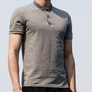 Grey Men Polo Shirts , 100% Cotton Polo Shirts , Men Blank T-Shirts Wholesale