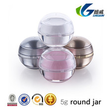 2015 wholesale PP 5g advanced ball shape cream jar sample free plastic container