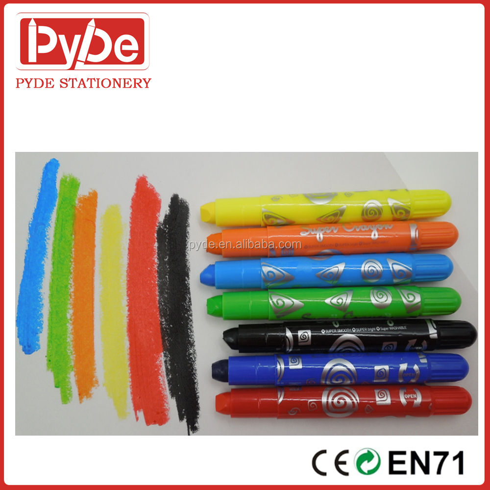 12Colors Washable Silky Gel Crayon for Kids