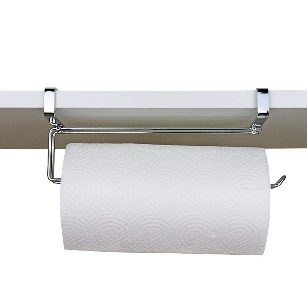 Bathroom Fixtures The Best 2pcs Paper Towel Holder Dispenser Under Cabinet Paper Roll Holder Rack Without Drilling For Kitchen Bathroom Easy To Use