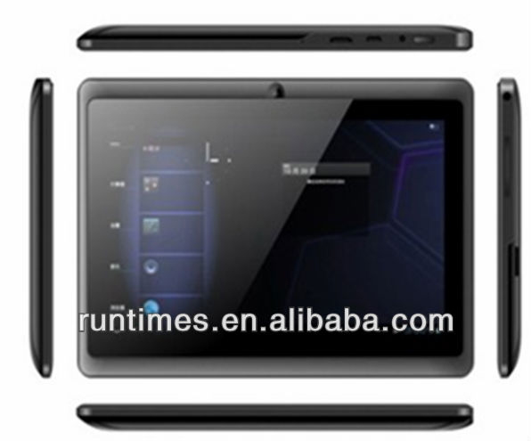 "Tablet PC 7"" AllWinner A13 android 4.0 1.2GHz 512M DDR Camera 4GB Capacitive Screen 7 inch tablet PC"