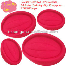 Wholesale/Making girls school uniform caps wool fedora Red lana female cap 100%wool felt wear for airline clothes/railway/hotel