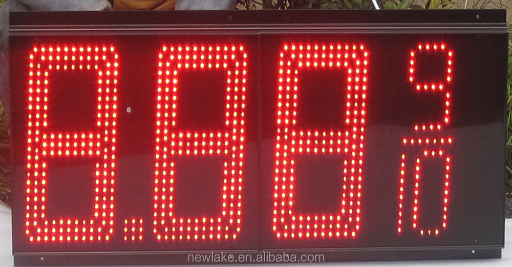 Hot sell cash credit   12 inch  red green   gas price LED display  for gas station