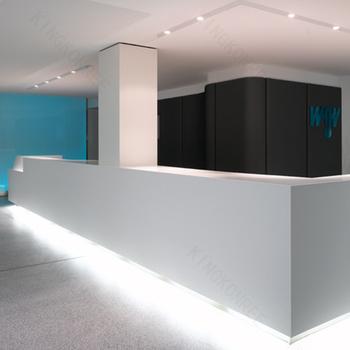 white modern reception desk salon reception desk curved reception desk - Modern Reception Desk