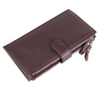 TOP quality genuine leather men's wallet multi card slots double zipper men wallet 2016