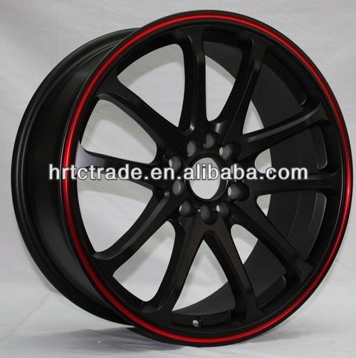 New Design Matt Black Car Alloy Wheels Aluminum Car Mag