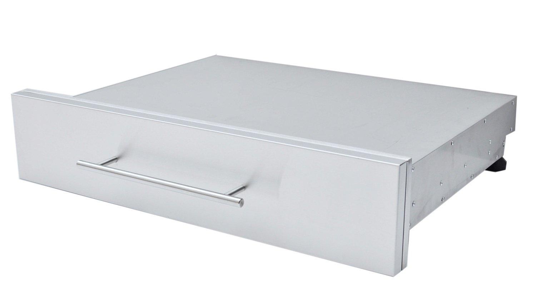"SUNSTONE DE-SD30 Designer Series Raised Style Height Single Drawer, 30"" x 6-1/2"", Stainless Steel"