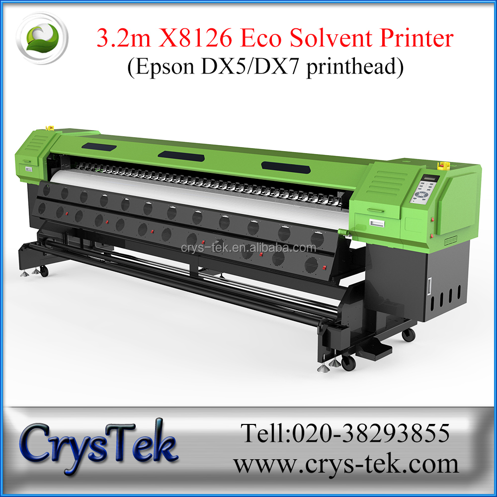 Guangzhou 3.2m eco solvent inkjet plotter printer with DX7 head