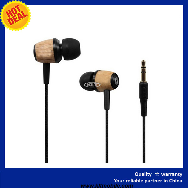 In-ear Wooden Earphone Headphone Earbuds Headset for iPhone PC MP3