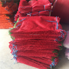 2017 PE raschel mesh bag for potato with drawstring 50*80cm 28g red