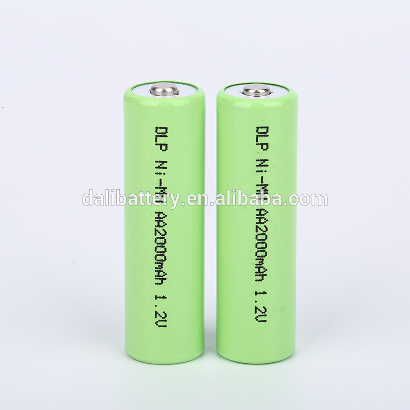Best quality promotional ni cd AA2000 1.2V cylindrical battery