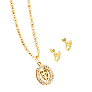 New Coming Unique Rose Gold Owl Pendant 20 Grams Gold Necklace Designs In Stock