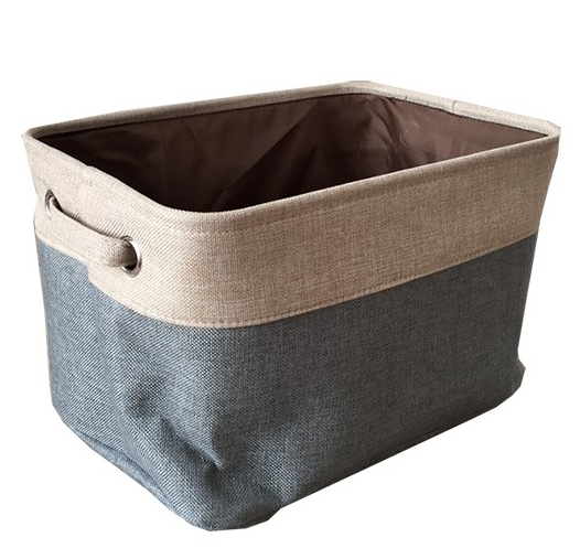 Houseware decorative collapsible canvas <strong>bathroom</strong> <strong>storage</strong> <strong>basket</strong> with handles