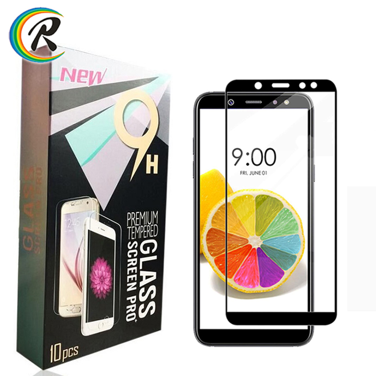 Amazon Top Seller Full Cover Tempered Glass For Samsung A6 2018 Full Glue Screen Protector