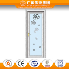 decorative interior aluminium frosted glass door bathroom door