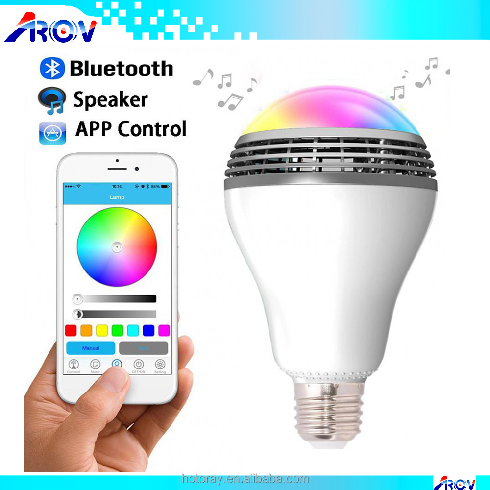 LED Bulb Light Sound Box Mini Wireless Bluetooth Speaker E27 5W Lamp Audio for Android ISO iPhone iPad