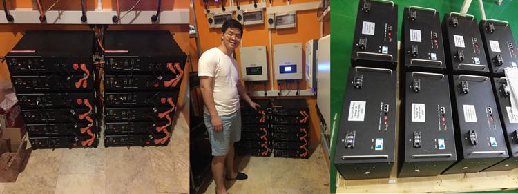 Accumulo di energia di Alimentazione di Backup di Alimentazione Per 48 V Al Litio 50Ah Pacchetto 2.4kwh Casa Banca Della Batteria