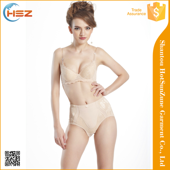 HSZ 1206 fashionable fabric for lingerie high quality satin bikini panties nylon underwear women