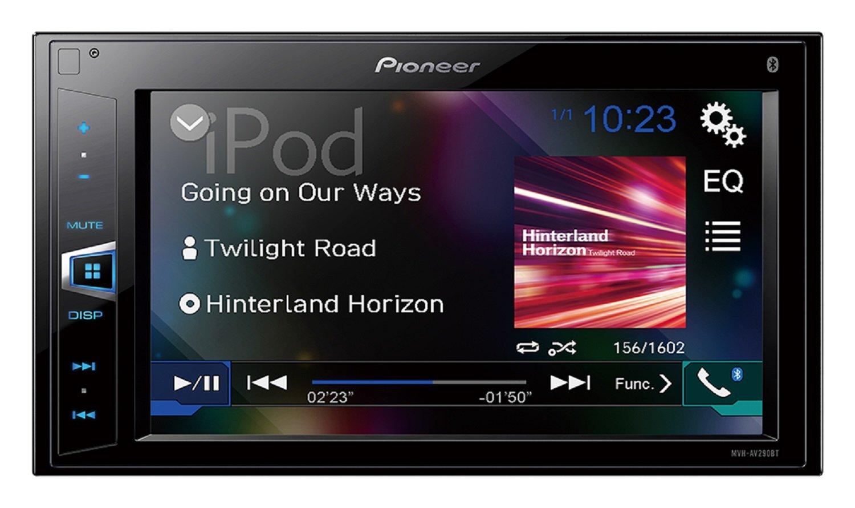 "Pioneer MVH-AV290BT 6.2"" Double-DIN In-Dash Digital Media A/V Receiver with Bluetooth"