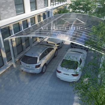 Cool alluminio doluble carport garage con coperture in for Piani di garage con posto auto coperto