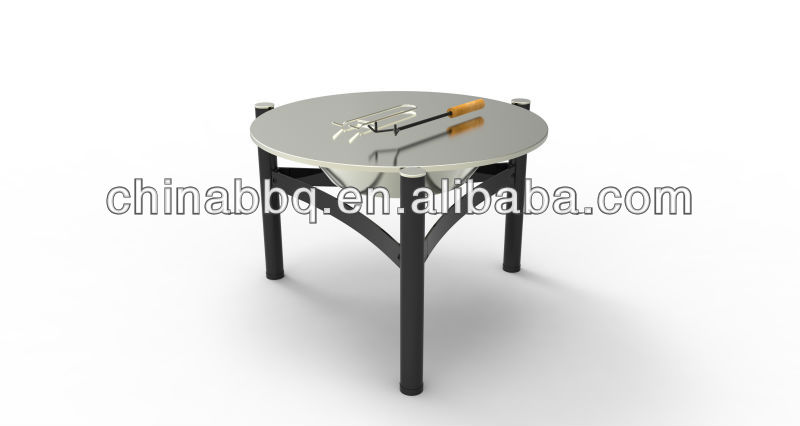 Outdoor living stainless steel round fire pit